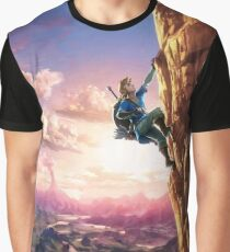 Breath of the Wild Link climbing Graphic T-Shirt