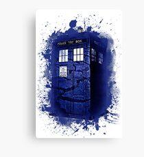 Scratch Blue Box Hoodie / T-shirt Canvas Print
