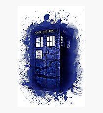 Scratch Blue Box Hoodie / T-shirt Photographic Print