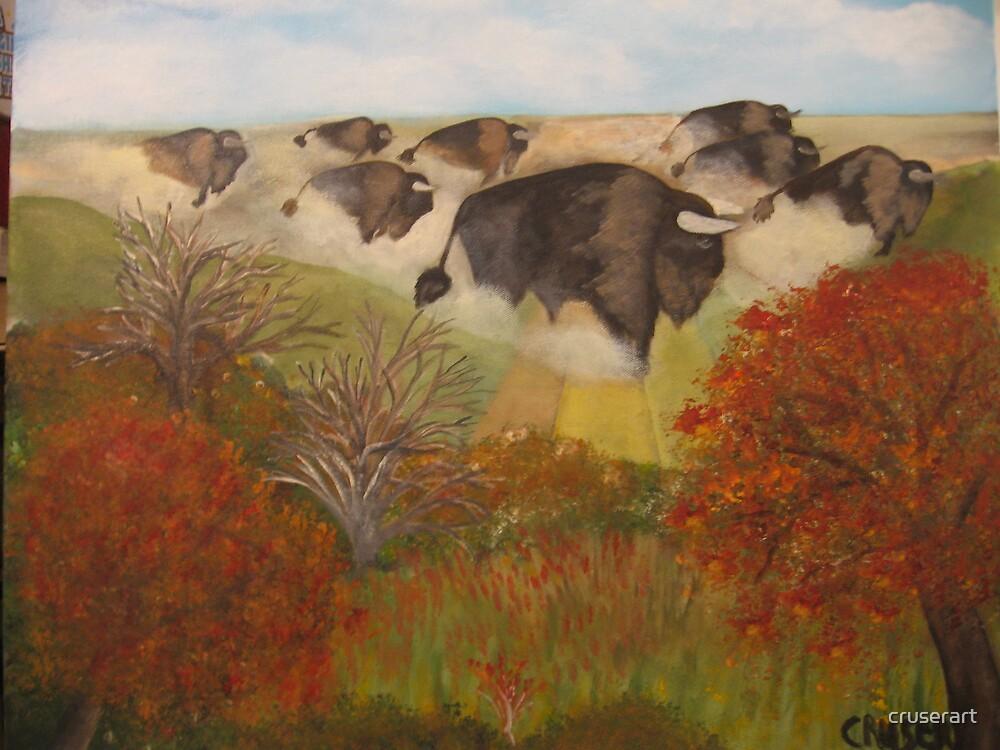 Where buffalo roamed free by cruserart