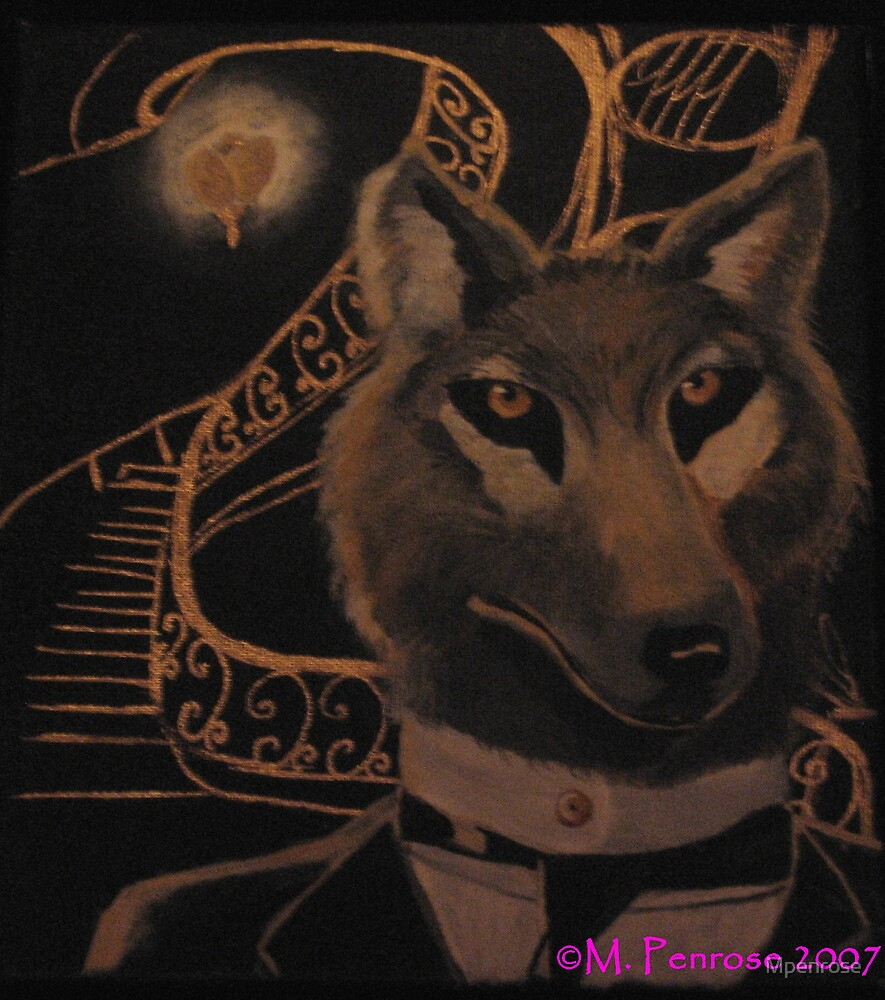 The Wolf Painting by Mpenrose