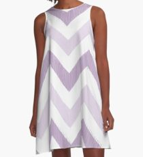 Purple Zig Zag A-Line Dress