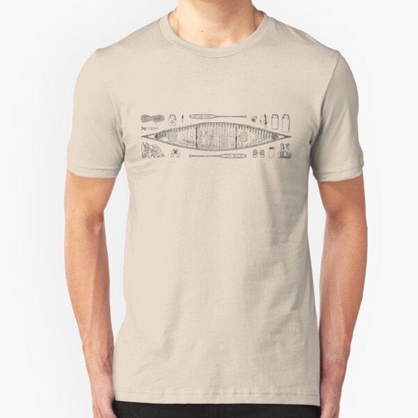 Canoeing Slim Fit T-Shirt