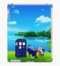 Tardis And The Doctor Breakfast iPad Case/Skin