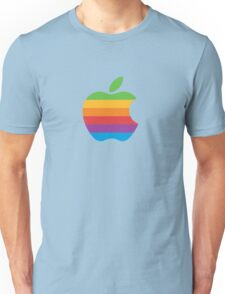 Rainbow Apple Logo Unisex T-Shirt