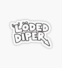 loded diper sticker Sticker