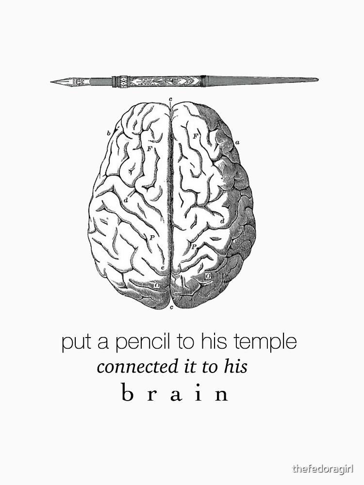 Verbunden mit seinem Gehirn von thefedoragirl