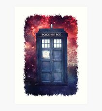 Police Blue Box Tee The Doctor T-Shirt Art Print