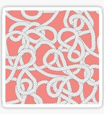 Nautical Rope Knots in Coral Sticker