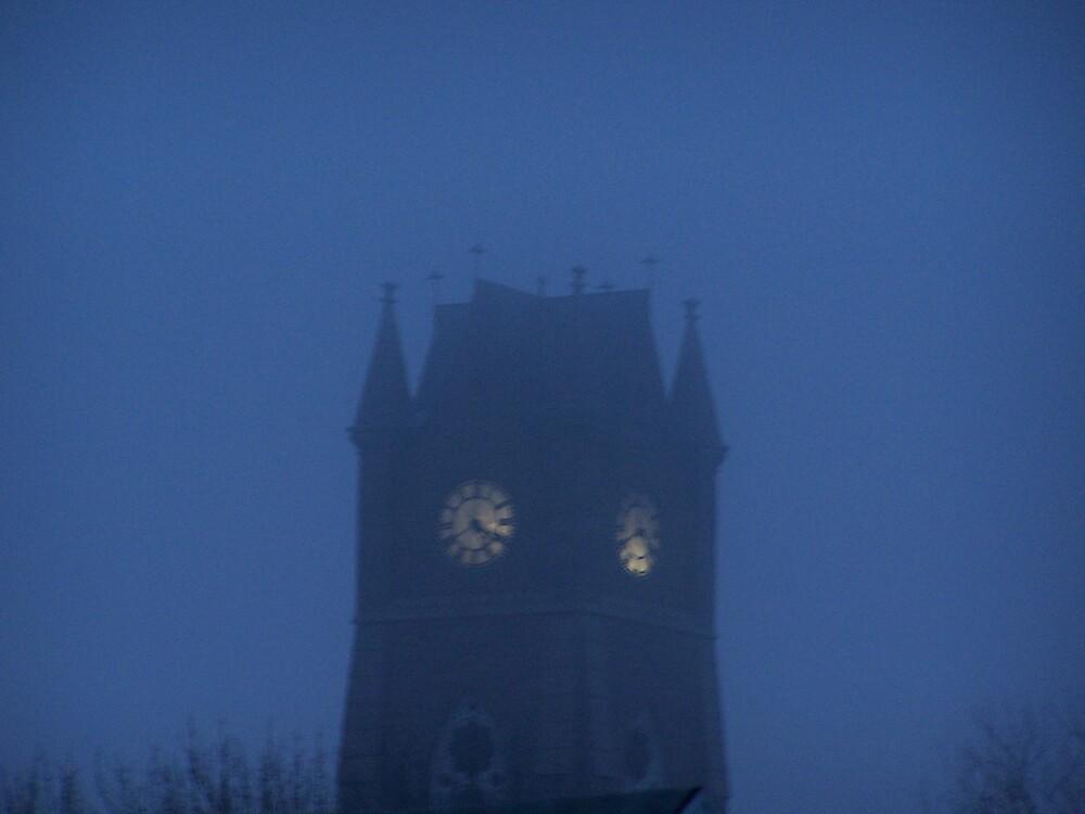 Church at dusk by missliz