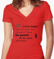 Little league: mothers and daughters Women's Fitted V-Neck T-Shirt