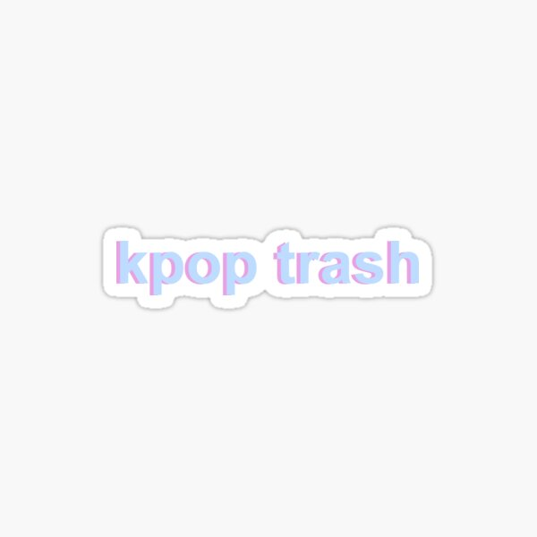 pastel kpop trash Sticker