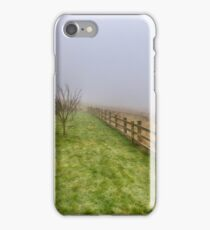 One foggy morning in Yorkshire iPhone Case/Skin