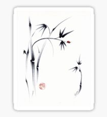 Lovely Day - Sumie ink brush pen painting Sticker
