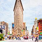 New York City Flatiron Building Artwork - NYC Landmarks by Mark Tisdale