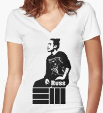 Russ Chilling Women's Fitted V-Neck T-Shirt