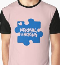 Normal Is Boring, Autism Awareness Graphic T-Shirt