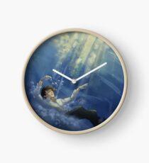 sunlit mustang Clock
