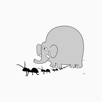 Elephant and ant by bnj0