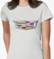 Cadillac logo (car) Womens Fitted T-Shirt
