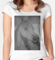 whisper in the wind Women's Fitted Scoop T-Shirt