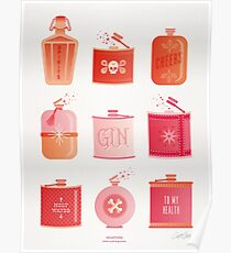 Flask Collection – Pink/Peach Ombré Palette Poster