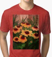 painted dasies  Tri-blend T-Shirt