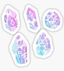 Rune Crystals Sticker