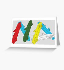 Miata madness - all letters point to the birth of MX5 Model NA! Greeting Card