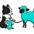Knitting Border Collie and Friend III by Diony  Rouse