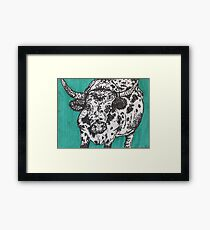 Dotted Cow Framed Print