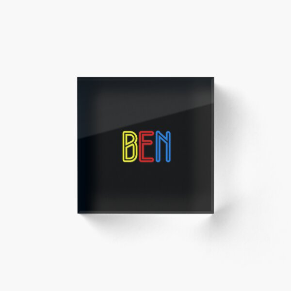 Ben - Your Personalised Products Acrylic Block