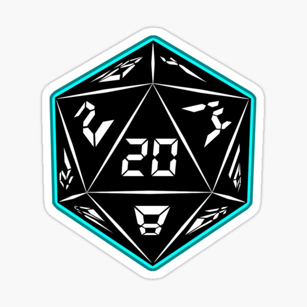 The Digital and Dice Podcast Logo Sticker