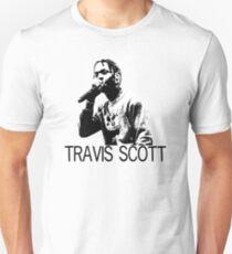 Travis Scott Black and White Print T-Shirt