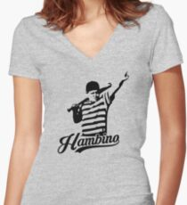The Great Hambino Women's Fitted V-Neck T-Shirt