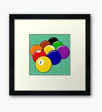 Nine-ball Framed Print