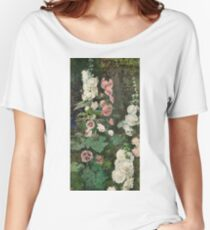 Fortuny Y Marsal, Mariano - Hollyhocks Women's Relaxed Fit T-Shirt
