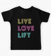 Live Love Lift Neon Kids Tee