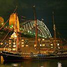 Sailing Vessel at Night by Gino Iori