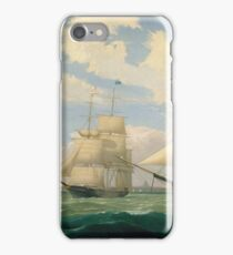 Fitz Henry Lane - The Ships Winged Arrow And Southern Cross In Boston Harbor 1853 iPhone Case/Skin