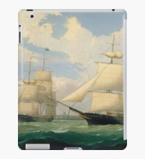 Fitz Henry Lane - The Ships Winged Arrow And Southern Cross In Boston Harbor 1853 iPad Case/Skin