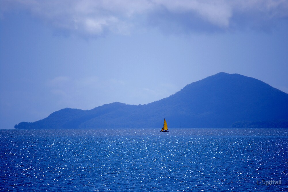 Glittering sea by L Spittall
