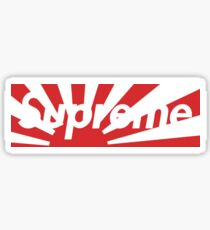 Supreme Japan Earthquake Relief Box Logo  Sticker