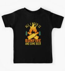 Bonfire And Beer Kids Tee
