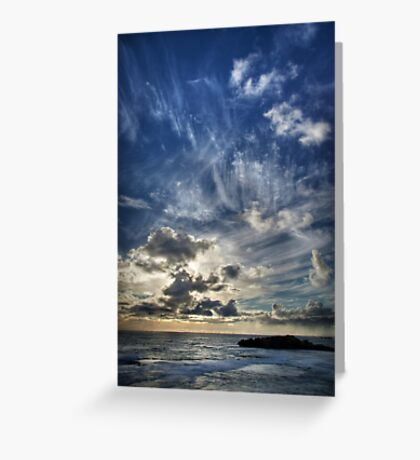 Cloud Evolution Greeting Card