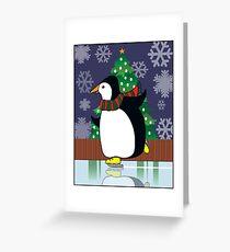 Penguin Skate Greeting Card