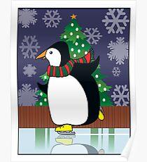 Penguin Skate Poster