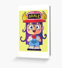 Arale Greeting Card
