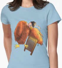 Polly Plays a  Washboard Womens Fitted T-Shirt