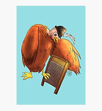 Polly Plays a  Washboard Photographic Print